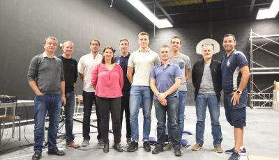 Les membres de la Fédération Française de Tir accompagnés de quelques chercheurs de l'ISM en visite au TechnoSport
